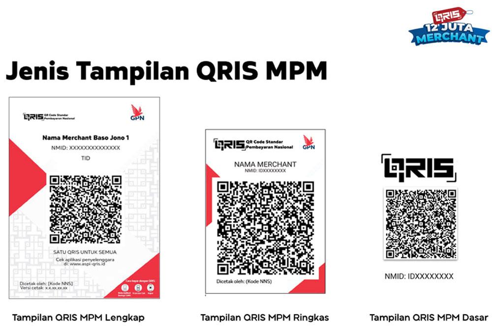Tampilan QRIS MPM Branding harus mengikuti panduan sesuai Buletin ASPI nomor 3/III/2021., QRIS, Daftar QRIS